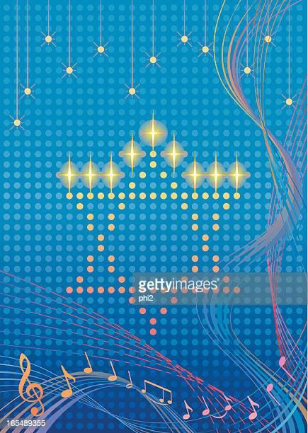 star of david hanukkah art vector - hanukkah stock illustrations, clip art, cartoons, & icons