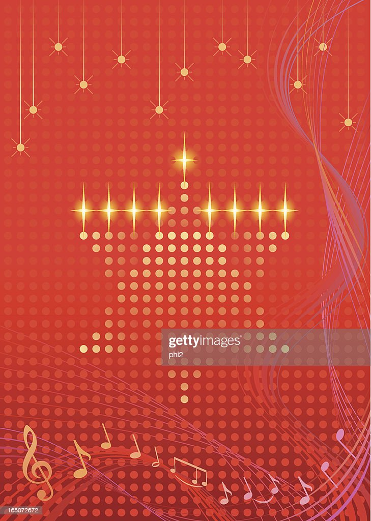 Star of David Hanukkah Card Vector
