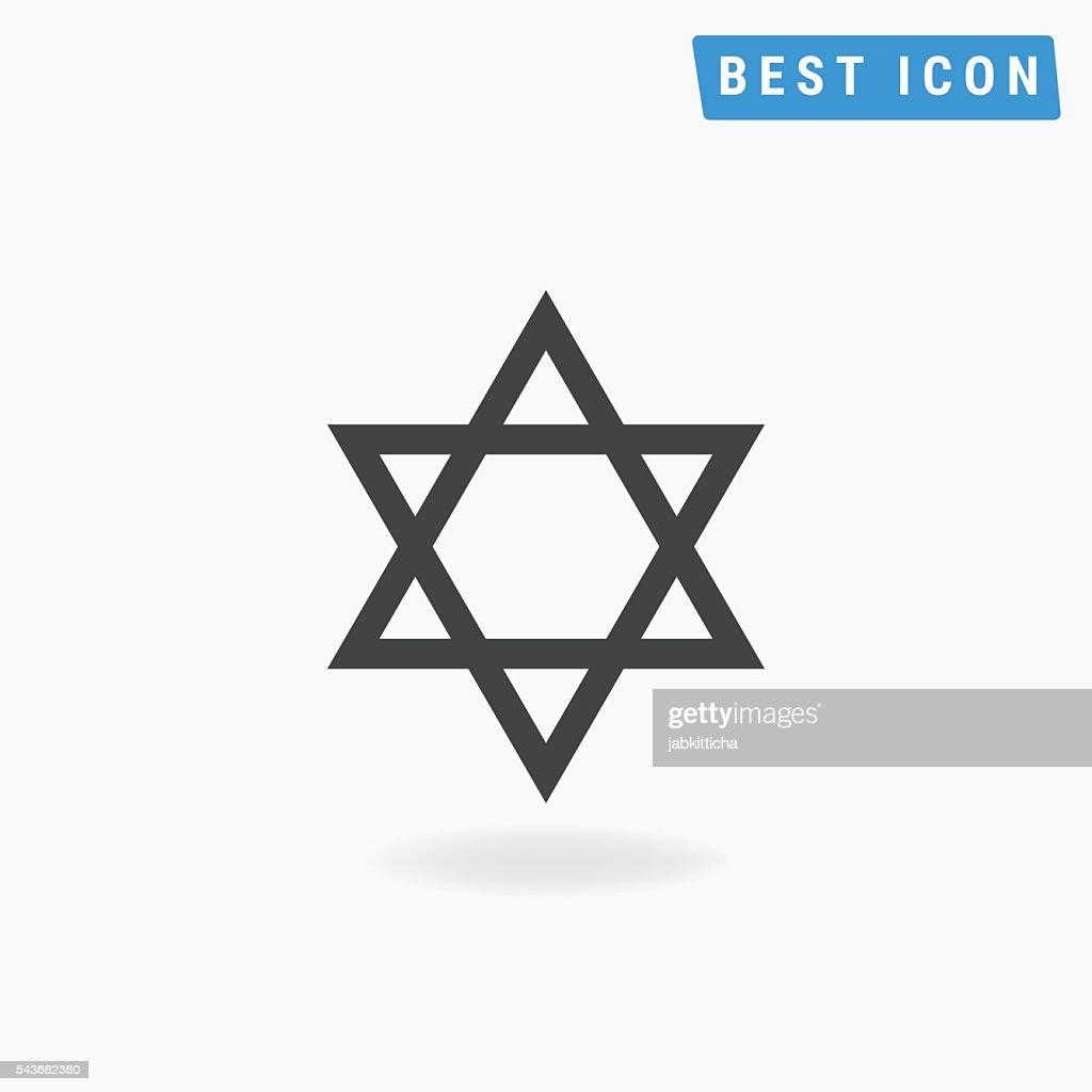 Star of David Icon, Star of David Vector eps10.