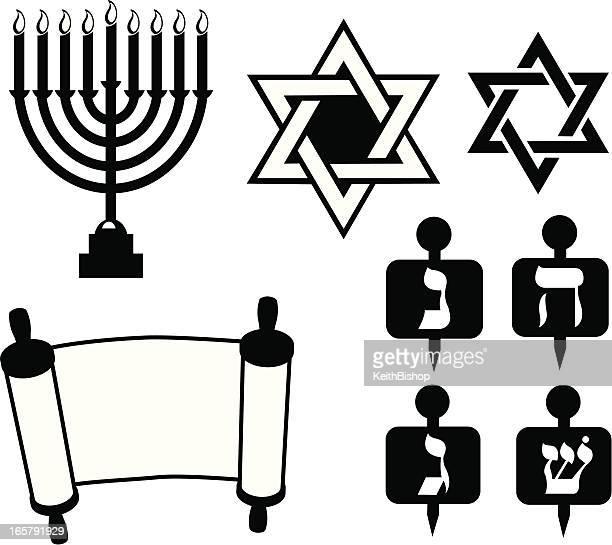 star of david - judaism jewish faith - dreidel stock illustrations, clip art, cartoons, & icons