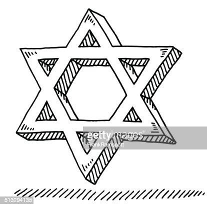 Star Of David Judaism Symbol Drawing Vector Art Getty Images