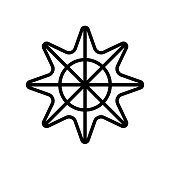 Star of sea fivepointed shape icon isolated on white background