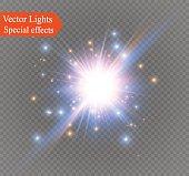 star on a transparent background,light effect,vector illustration. burst with sparkles