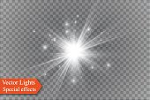 star on a transparent background,light effect,vector illustration. burst with sparkles