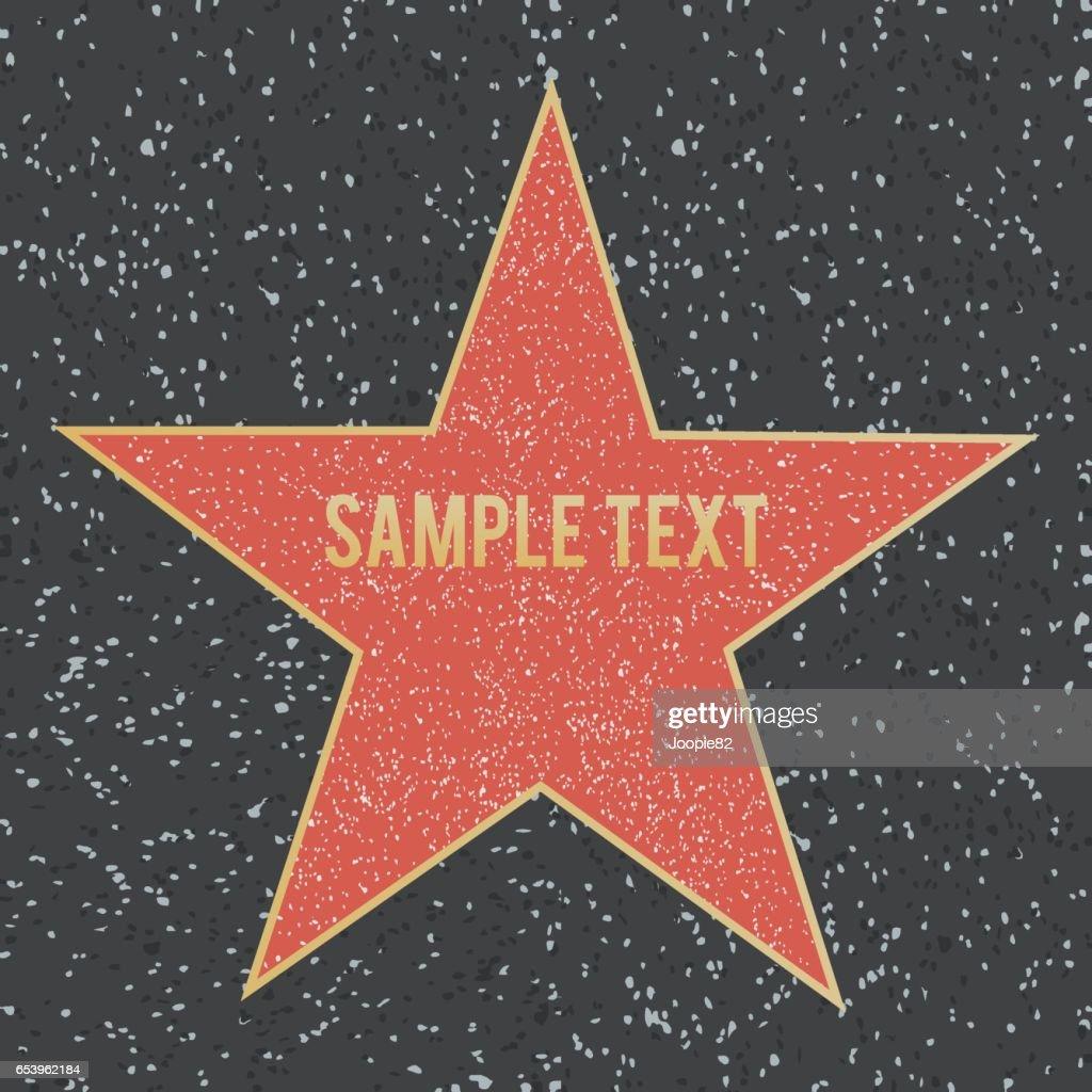 Star on granite floor. Vector illustration.