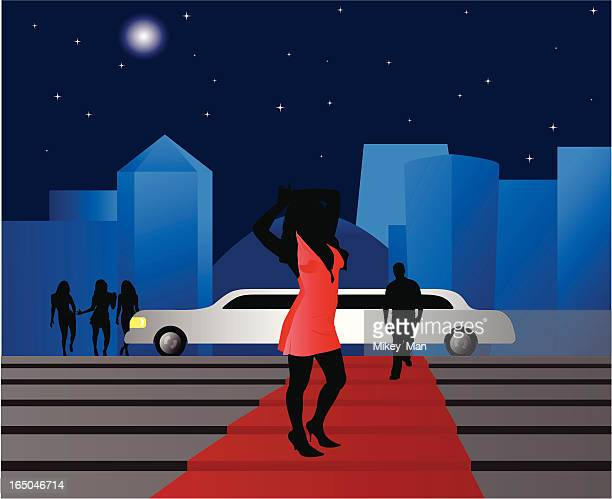 star on red carpet - infamous stock illustrations, clip art, cartoons, & icons