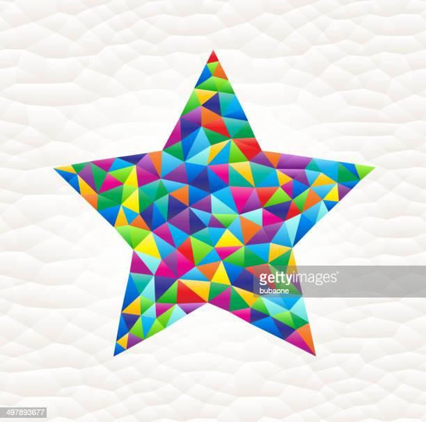 star on triangular pattern mosaic royalty free vector art - free mosaic patterns stock illustrations