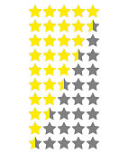 Star rate. Vector icon on white background