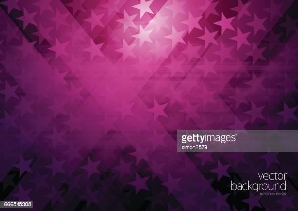ilustrações, clipart, desenhos animados e ícones de resumo de forma de estrela com fundo de cor roxa - funky