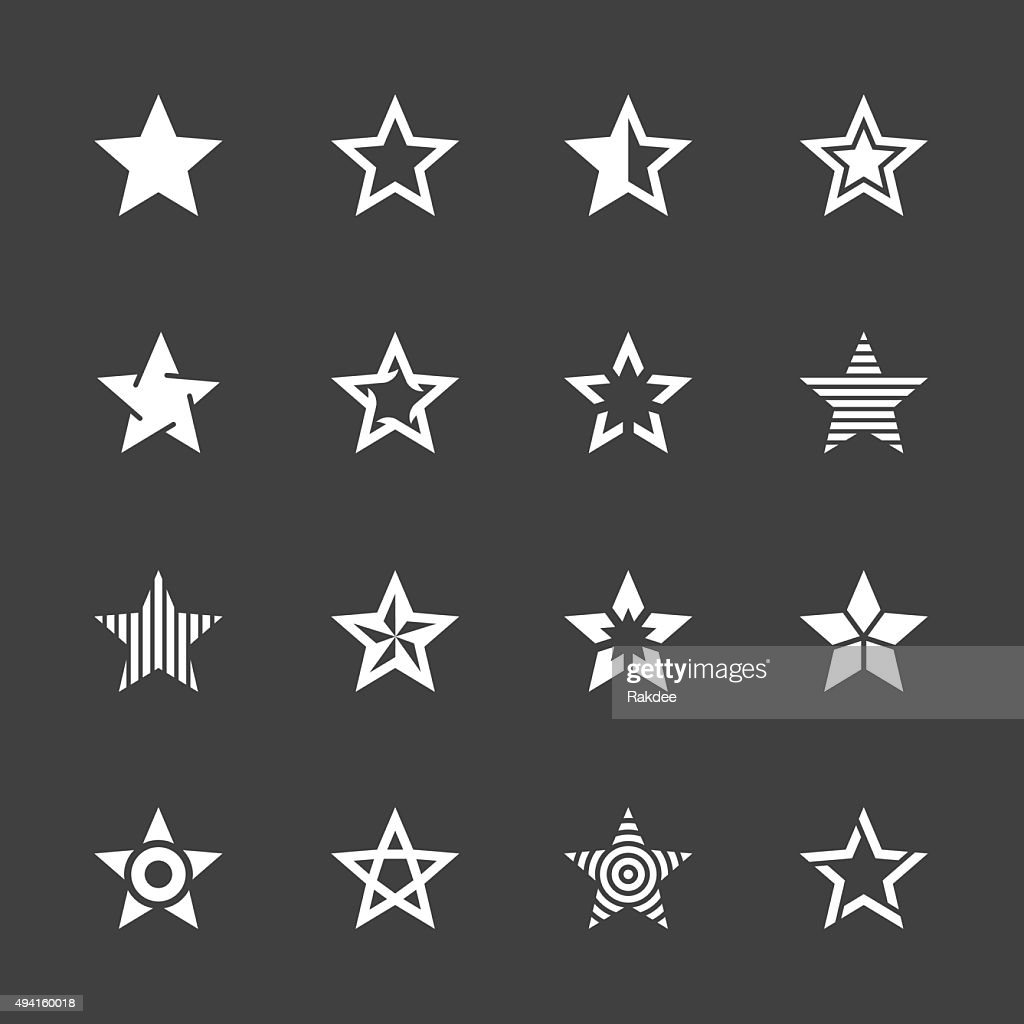Star Shape Icons - White Series