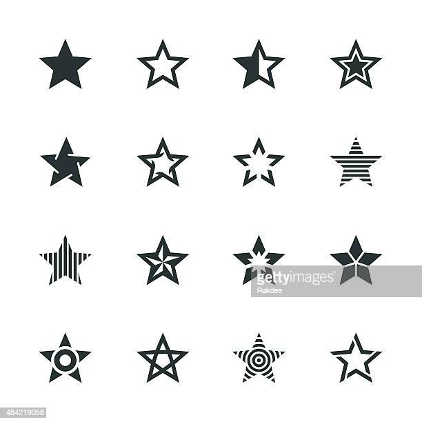 Star Form Silhouette Icons