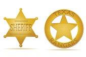 star sheriff and ranger vector illustration