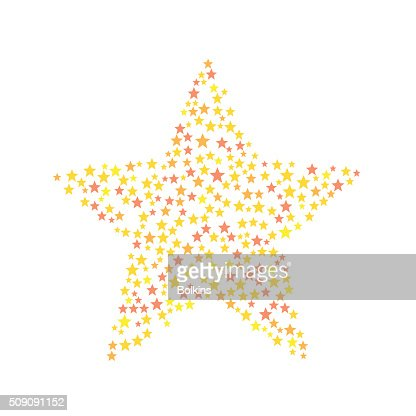 Star Symbol Consists Of Small Stars Vector Art Getty Images
