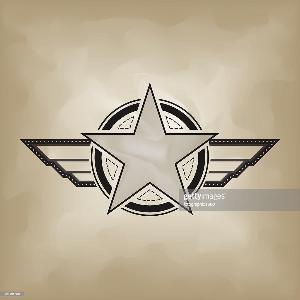 star symbol on crumple paper