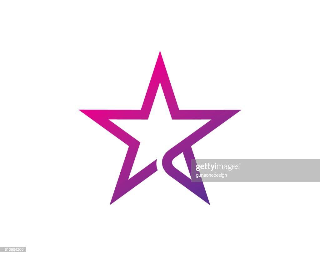 Star Symbol Template Design Vector, Emblem, Design Concept, Creative Symbol, Icon