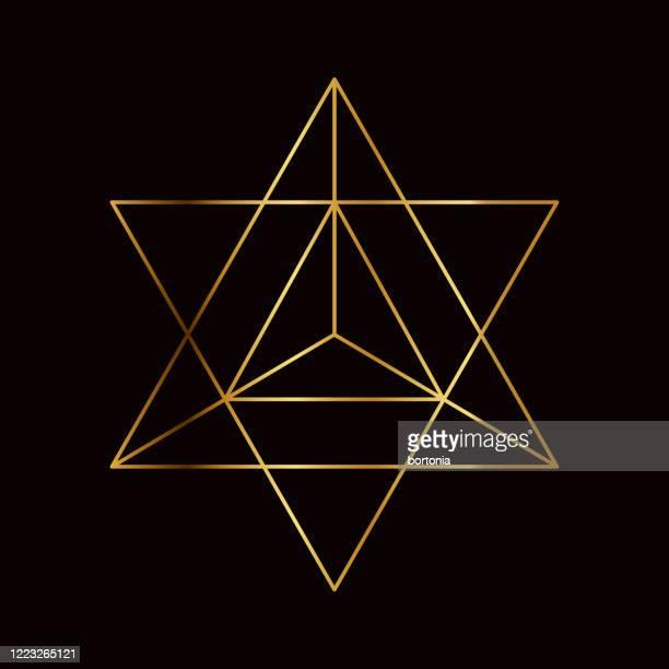 star tetrahedron sacred geometry symbol - spirituality stock illustrations