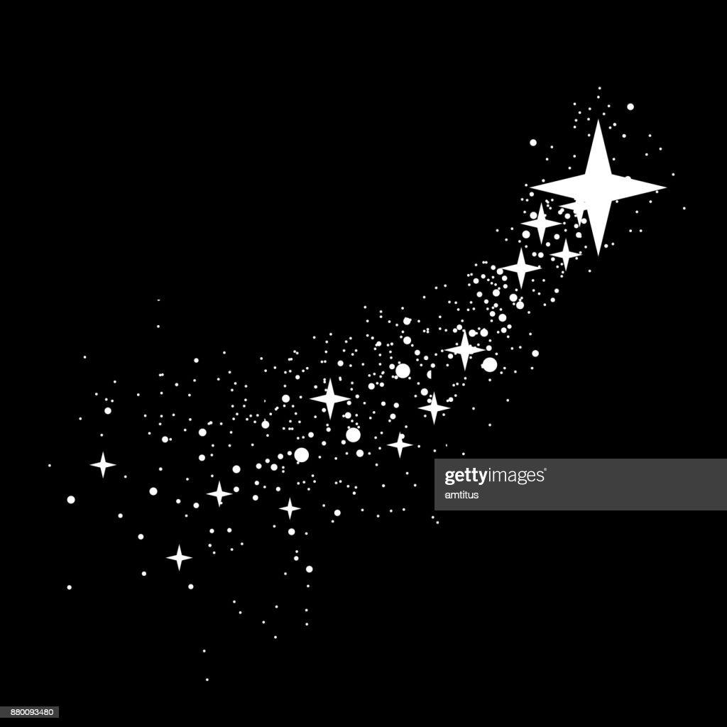 Star Trail : stock illustration