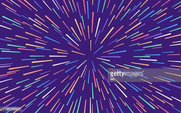 star warp blast abstract background - firework explosive material stock illustrations