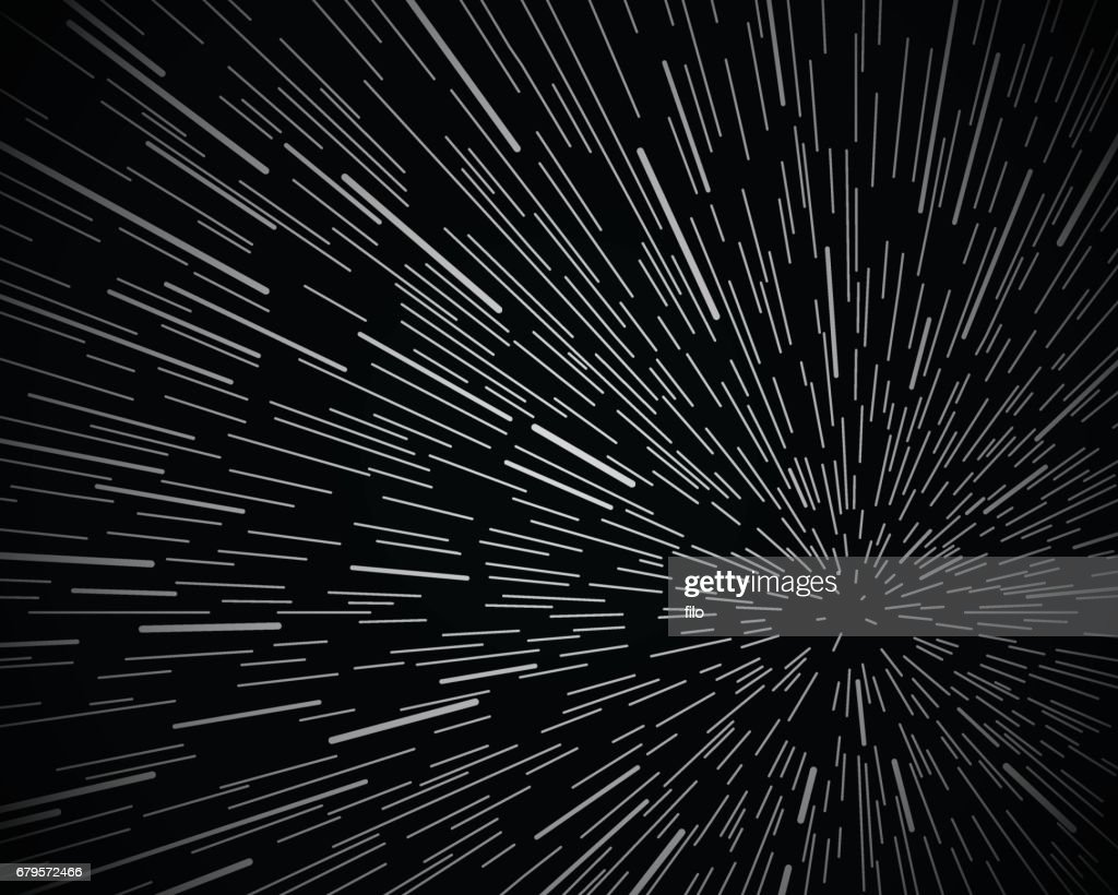 Star Warp Space Background