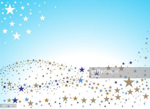 star waves - sugar sprinkles stock illustrations