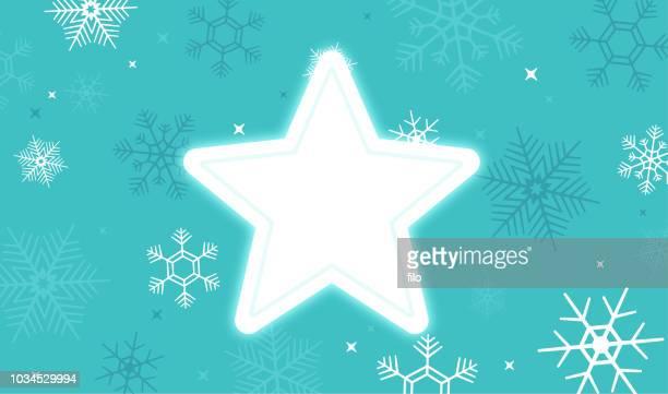 Star Winter Snow Background