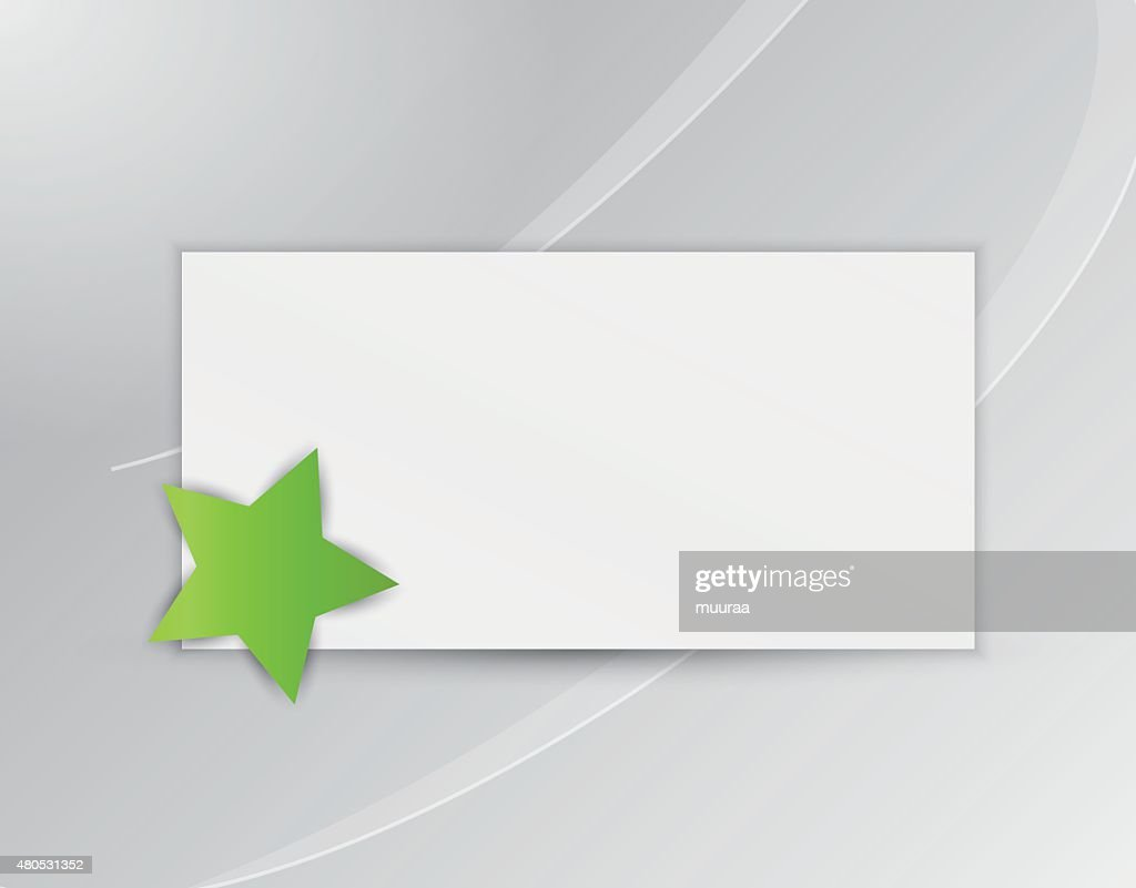 star with blank paper : Vectorkunst