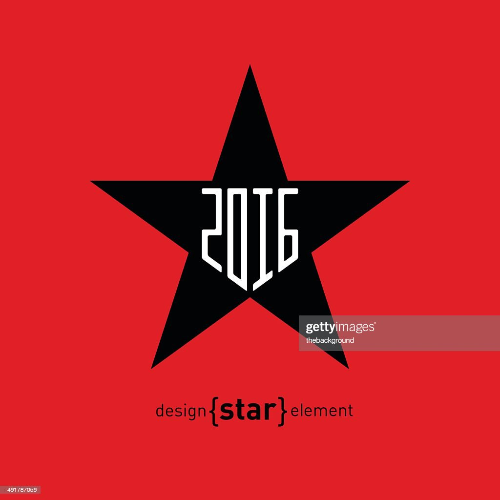 Star with new year date Abstract vector design element