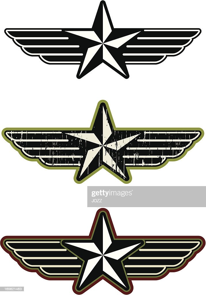 star with wings vector art getty images rh gettyimages co uk Bird Wings Vector Army Aviator Wings Vector