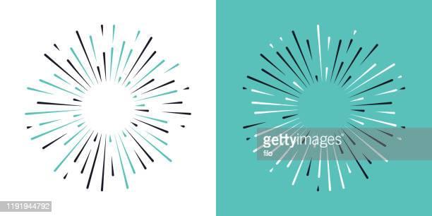 starburst blast design elements - lens flare stock illustrations