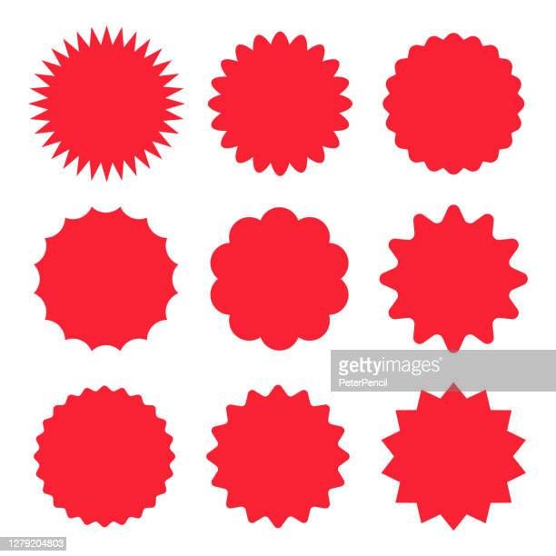 starburst stickers and badges - vector set - new stock illustrations