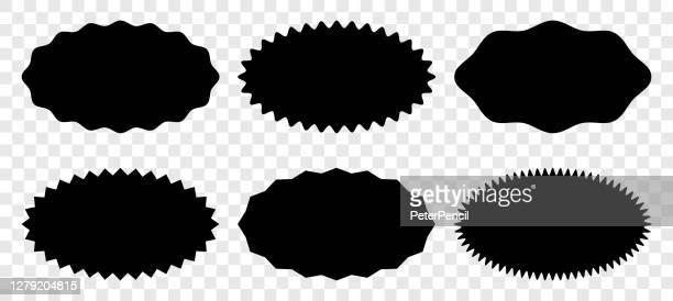 starburst aufkleber und abzeichen - vektor-set - oval stock-grafiken, -clipart, -cartoons und -symbole