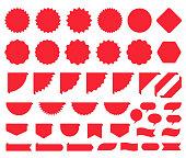 Starburst stickers. Price burst promo box. Vector illustration.