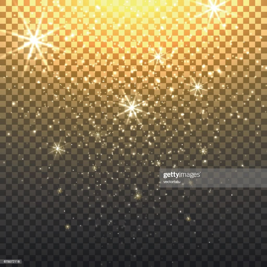 Stardust backdrop with transparent background