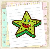 Starfish cartoon illustration