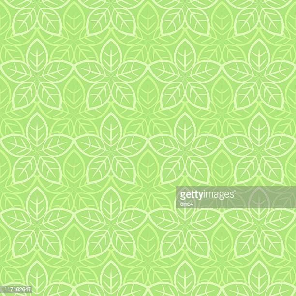 starleaf シームレスなパターン() - リーフ柄点のイラスト素材/クリップアート素材/マンガ素材/アイコン素材