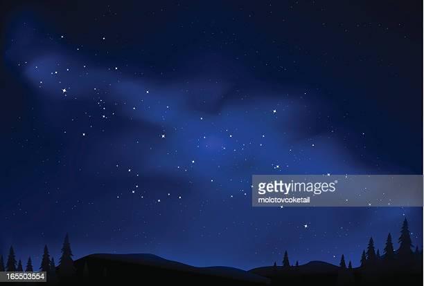 sternennacht - himmel stock-grafiken, -clipart, -cartoons und -symbole