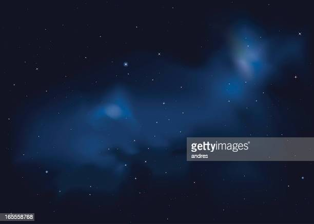 starry night - cloud sky stock illustrations