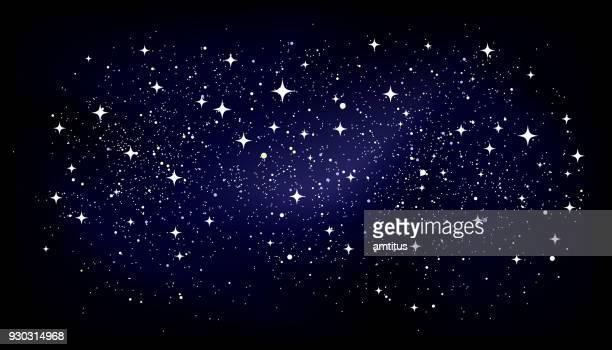 starry oval background - star field stock illustrations