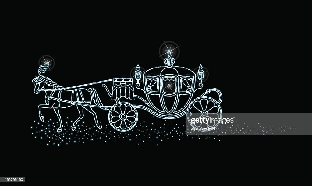 Starry sky of horse-drawn carriage