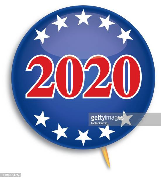 stars 2020 pin - presidential election stock illustrations