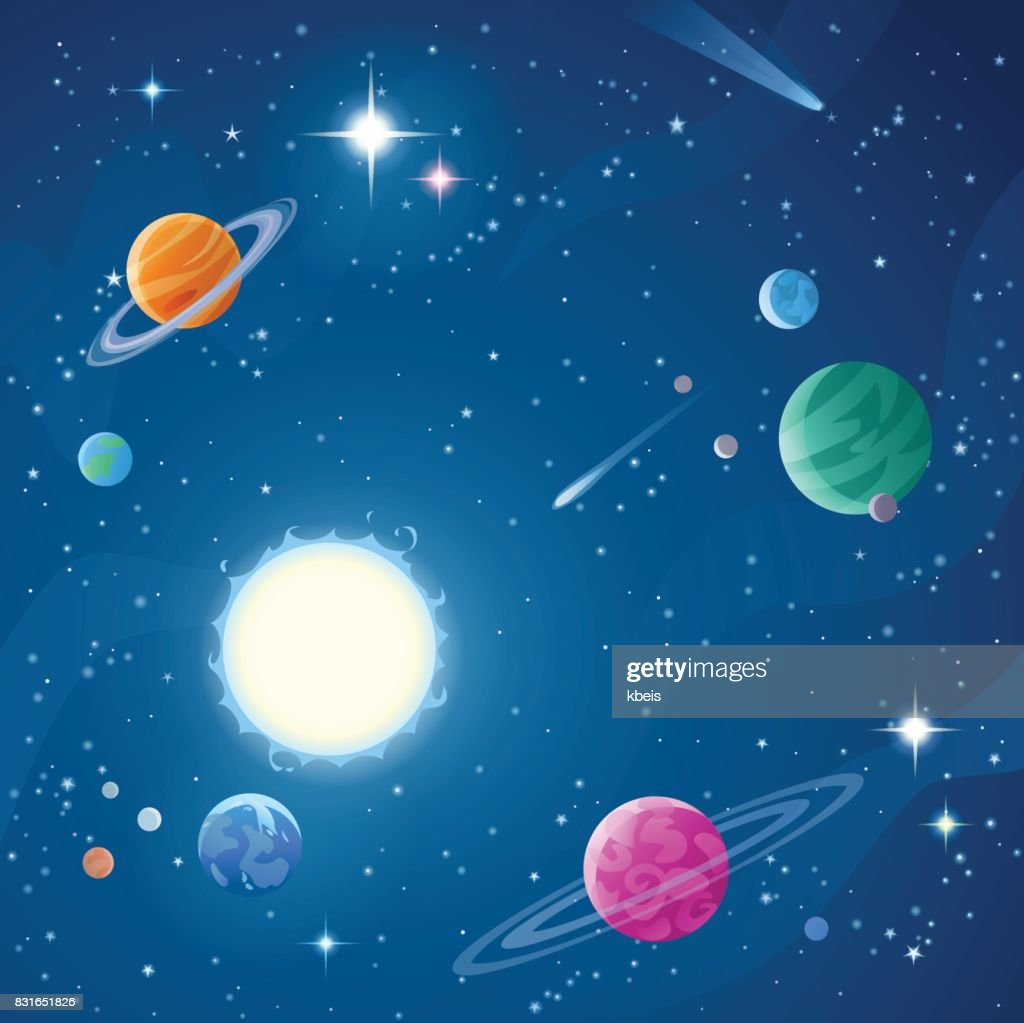 Stars And Planets : stock illustration