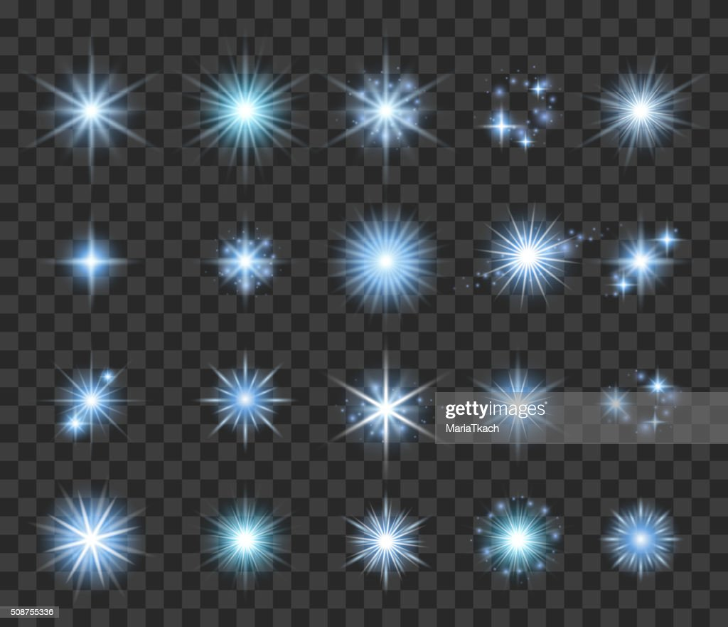 Stars and sparkles set vector illustration