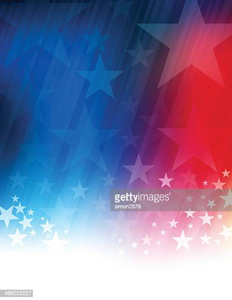 stars and stripes abstract - presidential candidate stock illustrations