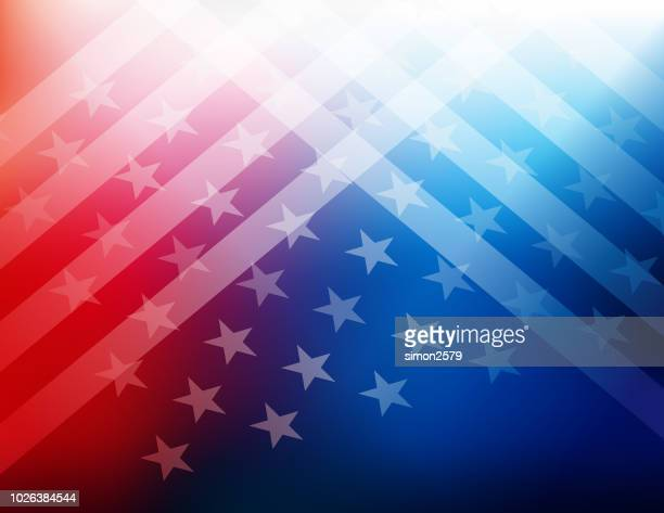 illustrazioni stock, clip art, cartoni animati e icone di tendenza di usa stars and stripes background - culture