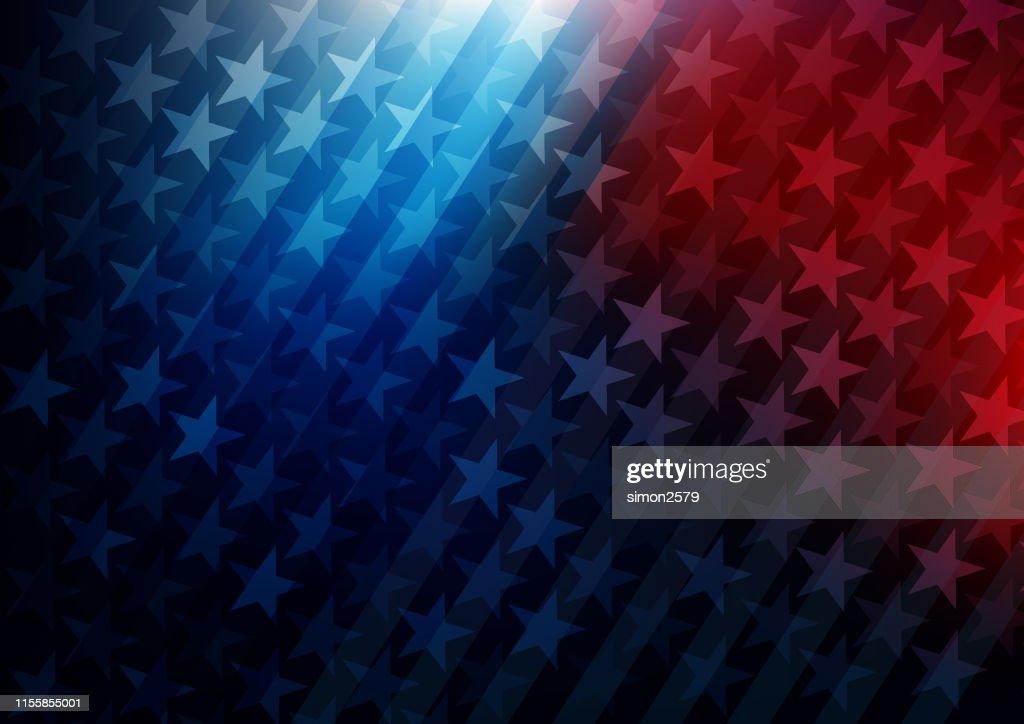 USA stars and stripes background : stock illustration