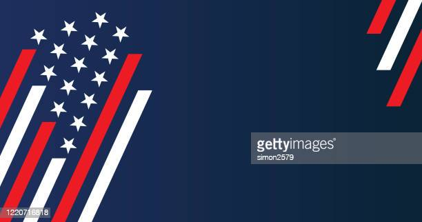 usa stars and stripes background - politics abstract stock illustrations
