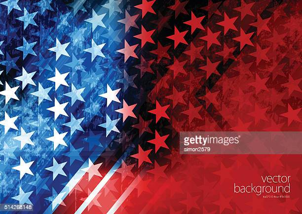 stockillustraties, clipart, cartoons en iconen met usa stars and stripes background - presidentskandidaat