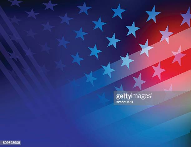 usa stars and stripes background - werkzeug stock illustrations