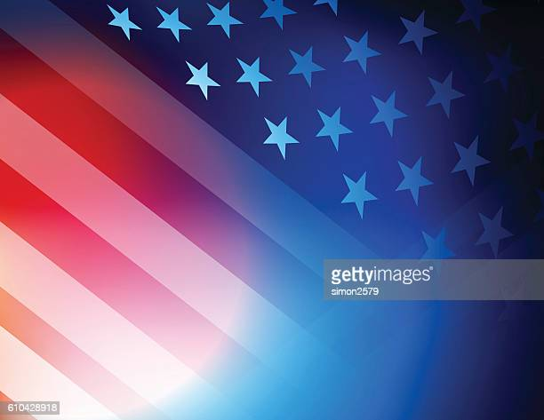 usa stars and stripes background - election stock illustrations