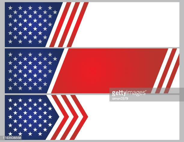 usa stars and stripes banner background - politics abstract stock illustrations